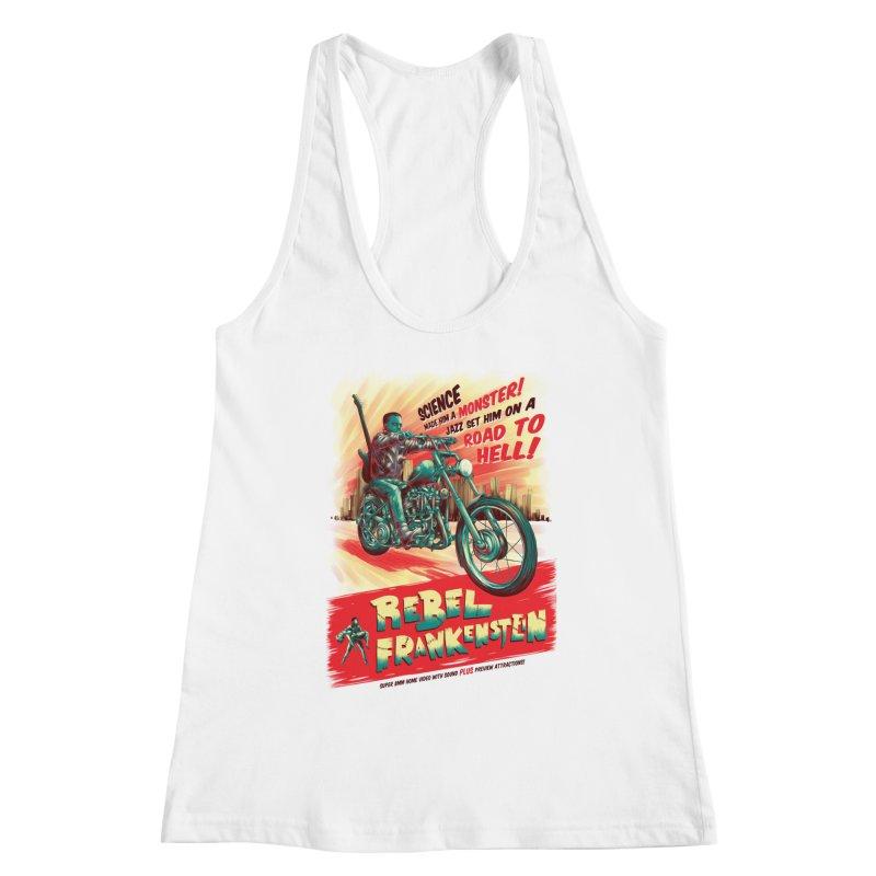 Rebel Frankenstein Women's Racerback Tank by David Maclennan