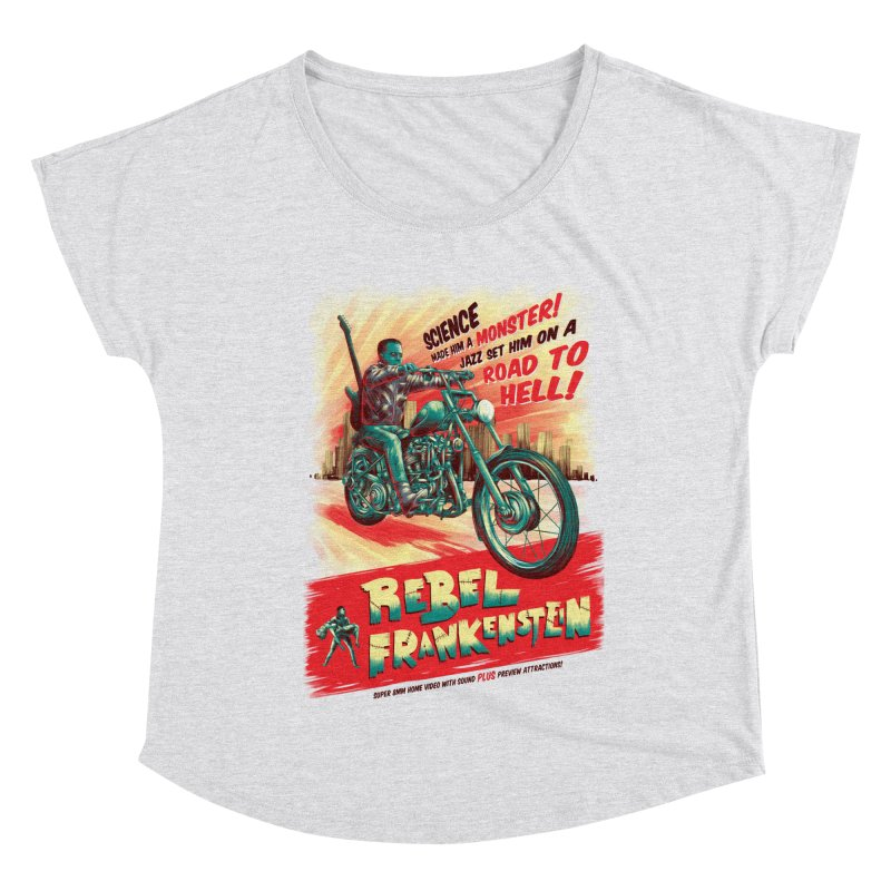 Rebel Frankenstein Women's Dolman Scoop Neck by David Maclennan