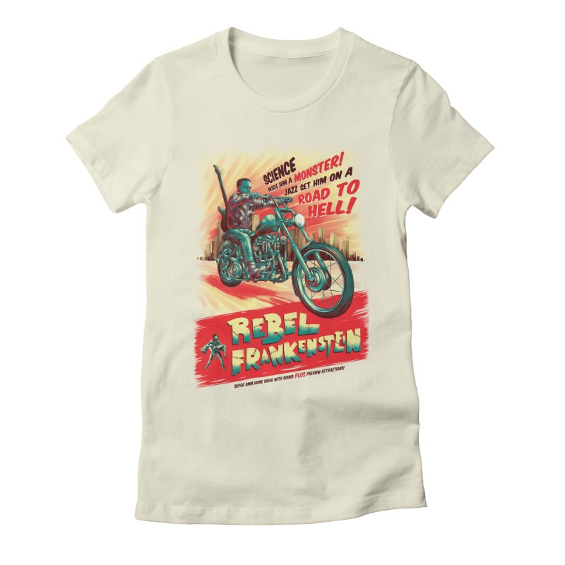 Rebel Frankenstein Women's Fitted T-Shirt by David Maclennan