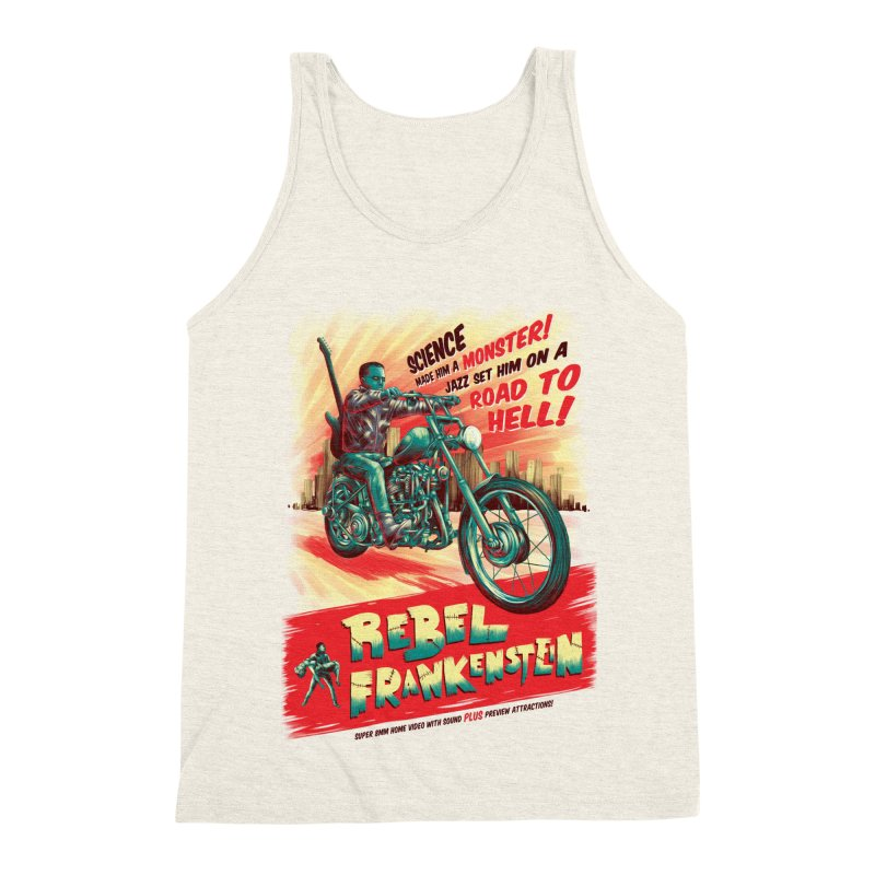 Rebel Frankenstein Men's Triblend Tank by David Maclennan