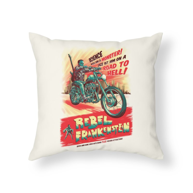 Rebel Frankenstein Home Throw Pillow by David Maclennan