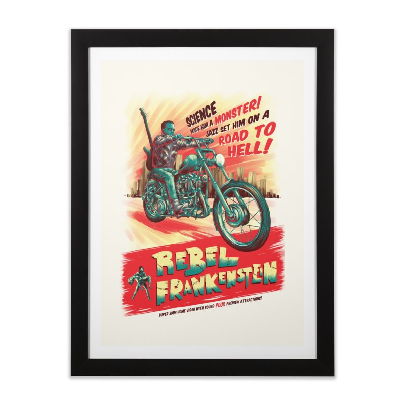Rebel Frankenstein Home Framed Fine Art Print by David Maclennan