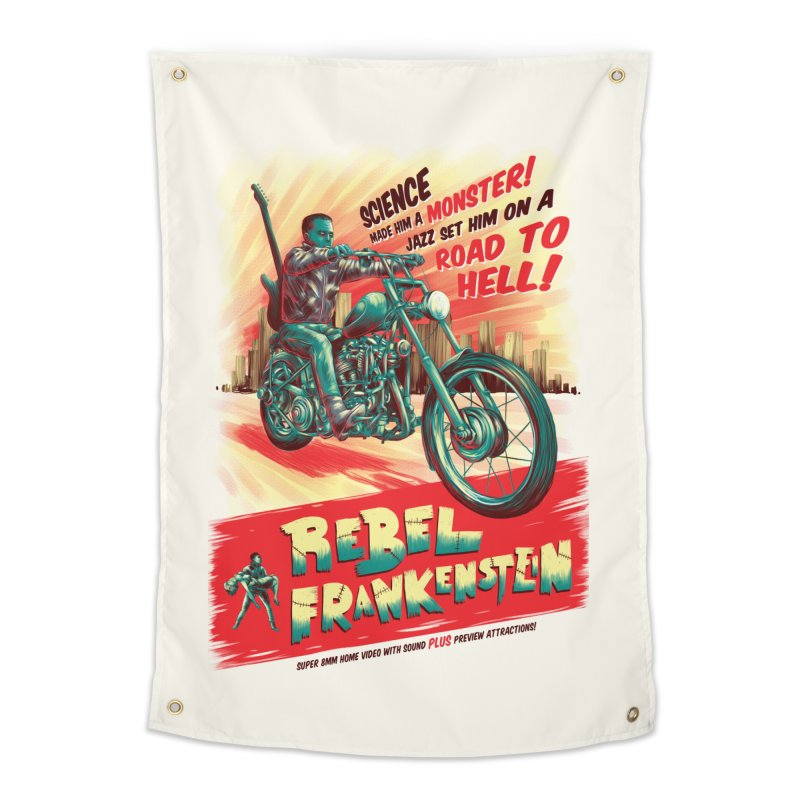Rebel Frankenstein Home Tapestry by David Maclennan