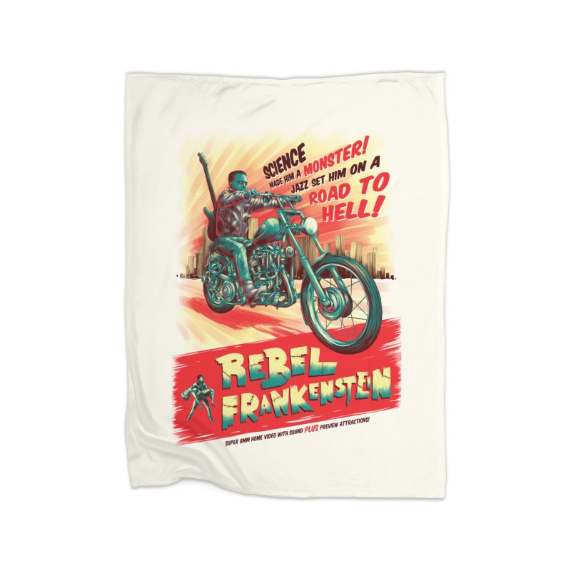 Rebel Frankenstein Home Blanket by David Maclennan