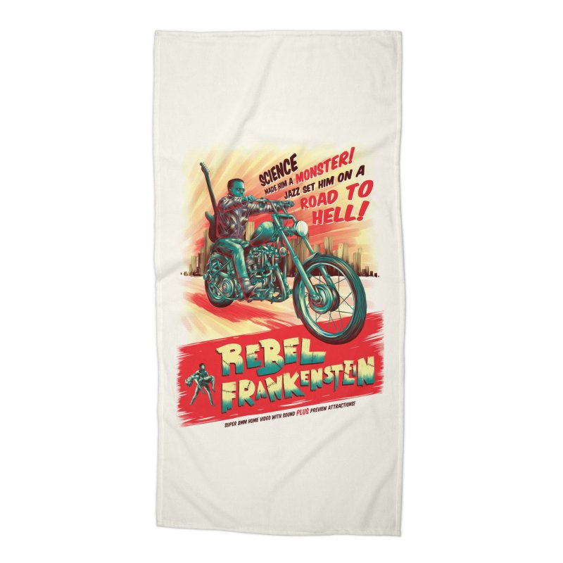 Rebel Frankenstein Accessories Beach Towel by David Maclennan