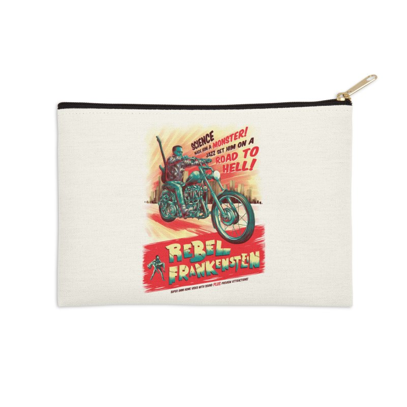 Rebel Frankenstein Accessories Zip Pouch by David Maclennan