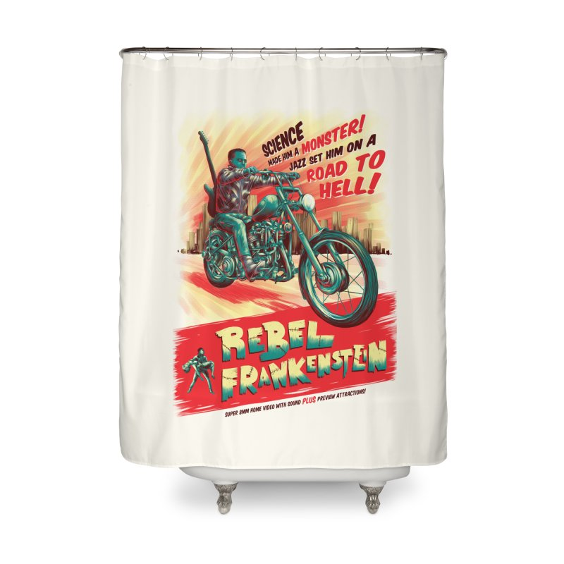 Rebel Frankenstein Home Shower Curtain by David Maclennan