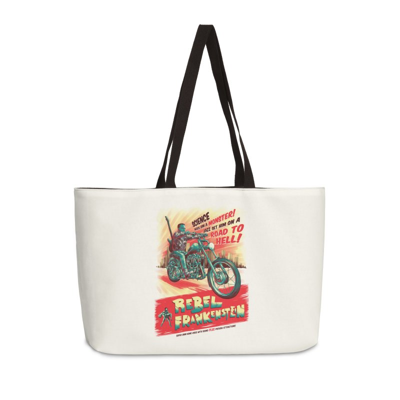 Rebel Frankenstein Accessories Weekender Bag Bag by David Maclennan