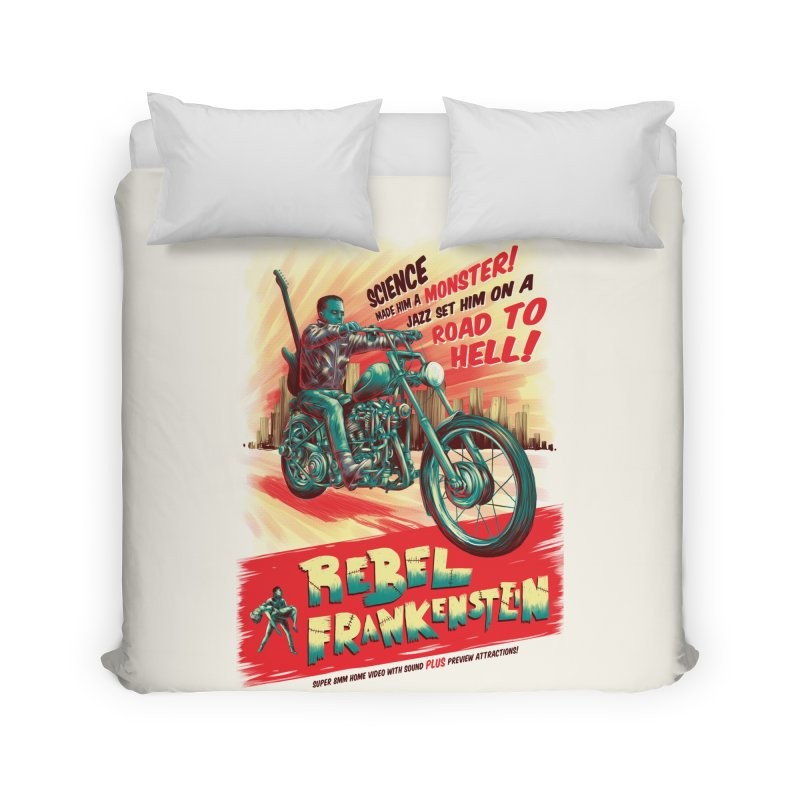 Rebel Frankenstein Home Duvet by David Maclennan