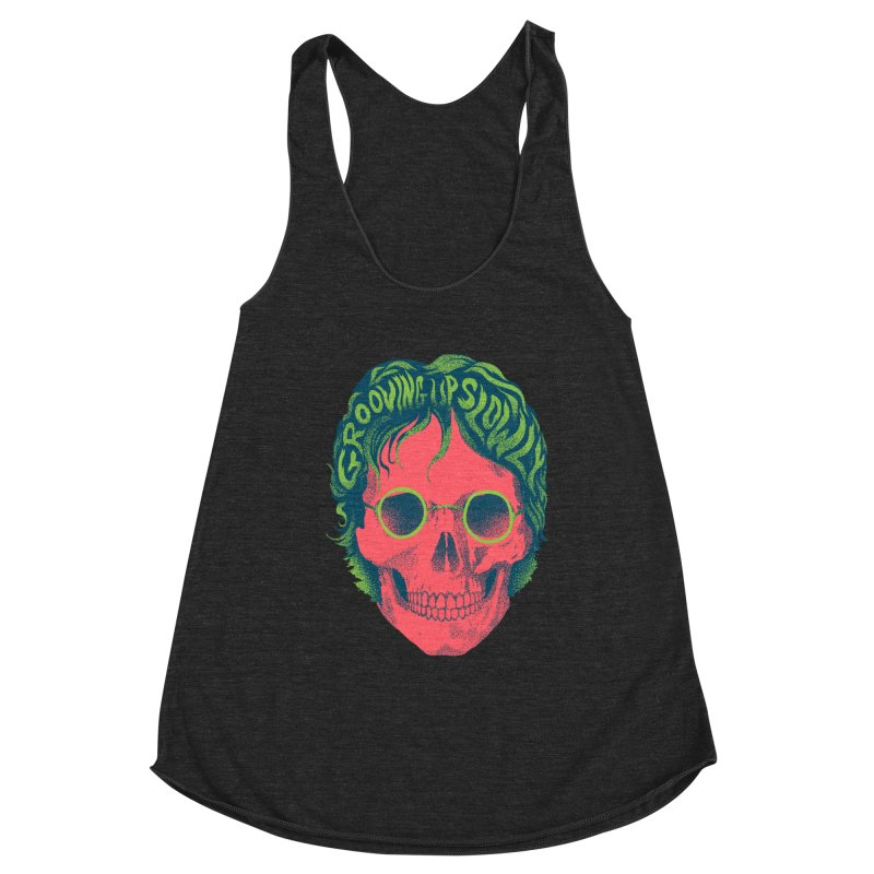 John Women's Racerback Triblend Tank by David Maclennan