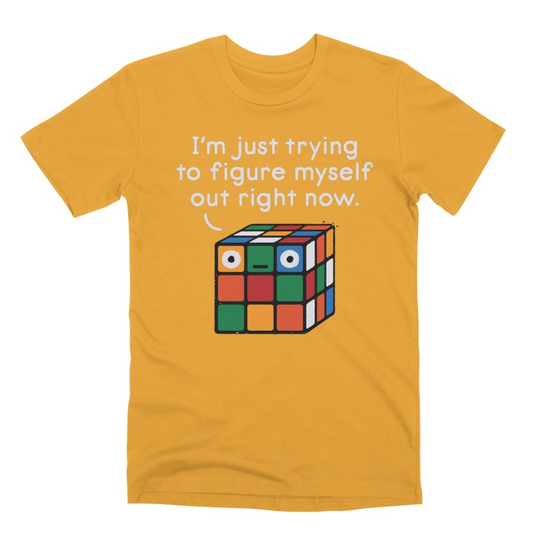Back To Square One Men's Premium T-Shirt by David Olenick