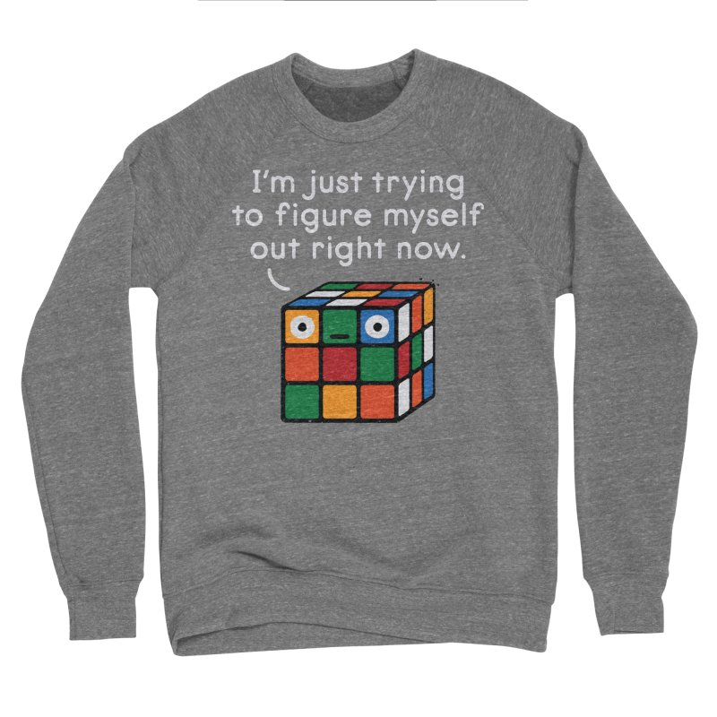 Back To Square One Women's Sponge Fleece Sweatshirt by David Olenick