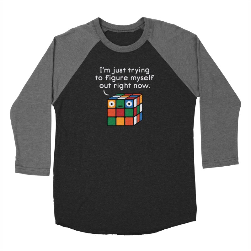 Back To Square One Women's Baseball Triblend Longsleeve T-Shirt by David Olenick