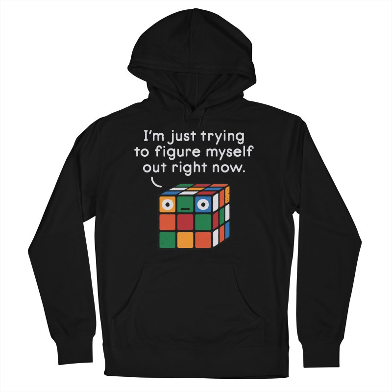 Back To Square One Women's French Terry Pullover Hoody by David Olenick