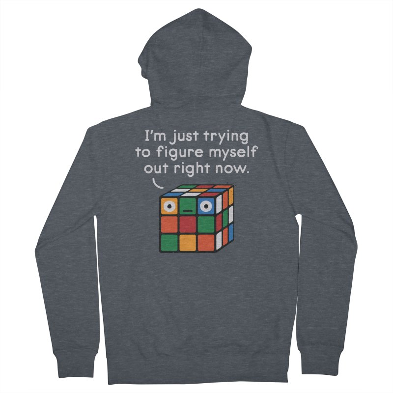 Back To Square One Women's French Terry Zip-Up Hoody by David Olenick