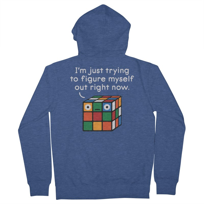 Back To Square One Men's French Terry Zip-Up Hoody by David Olenick