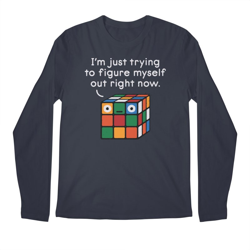 Back To Square One Men's Regular Longsleeve T-Shirt by David Olenick