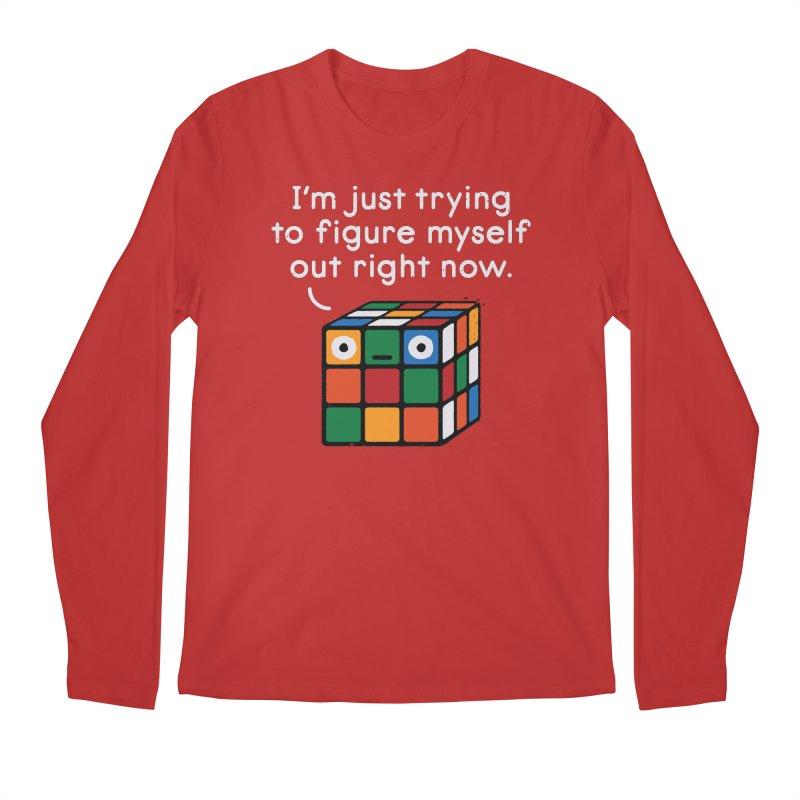 Back To Square One Men's Regular Longsleeve T-Shirt by David Olenick