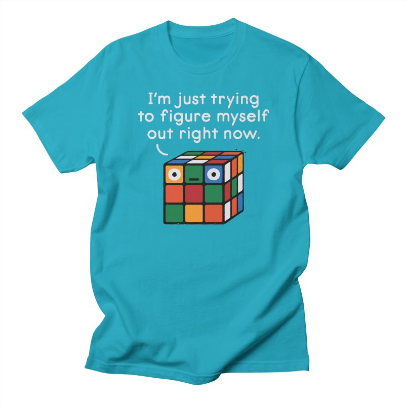 Back To Square One Men's Regular T-Shirt by David Olenick