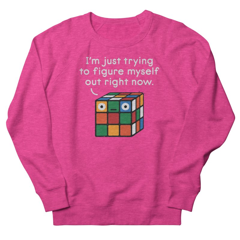 Back To Square One Women's French Terry Sweatshirt by David Olenick