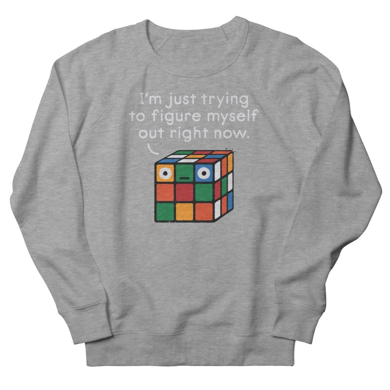 Back To Square One Men's French Terry Sweatshirt by David Olenick