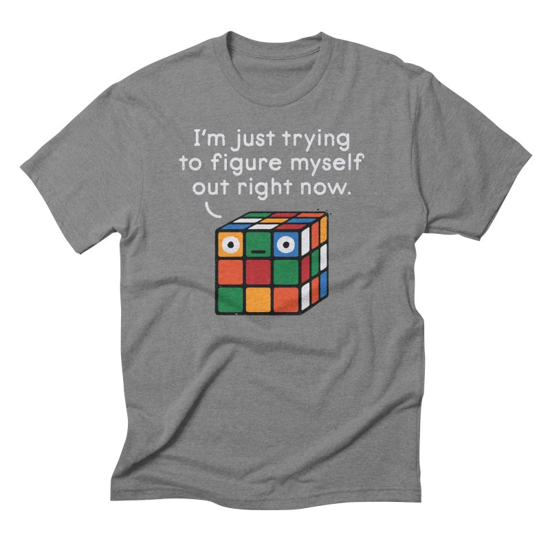 Back To Square One Men's Triblend T-Shirt by David Olenick