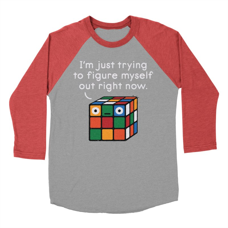 Back To Square One Men's Baseball Triblend Longsleeve T-Shirt by David Olenick