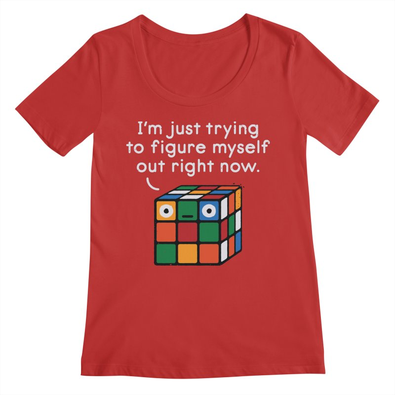 Back To Square One Women's Regular Scoop Neck by David Olenick