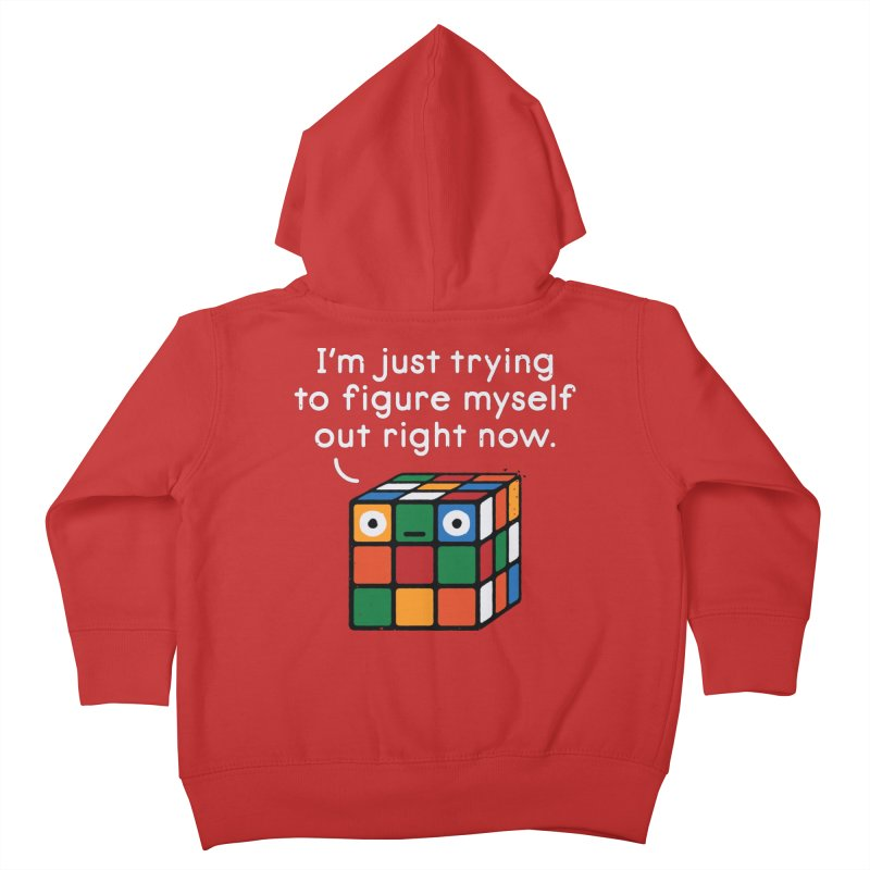 Back To Square One Kids Toddler Zip-Up Hoody by David Olenick
