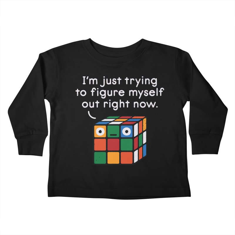 Back To Square One Kids Toddler Longsleeve T-Shirt by David Olenick
