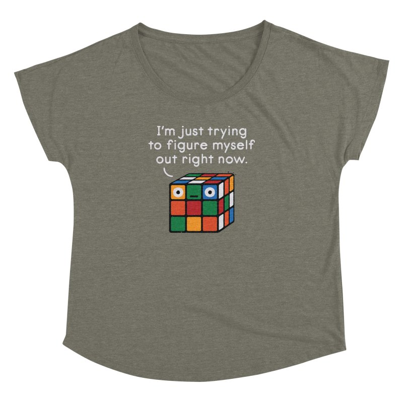 Back To Square One Women's Dolman Scoop Neck by David Olenick