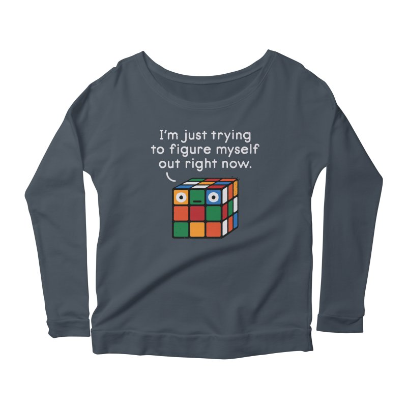 Back To Square One Women's Scoop Neck Longsleeve T-Shirt by David Olenick