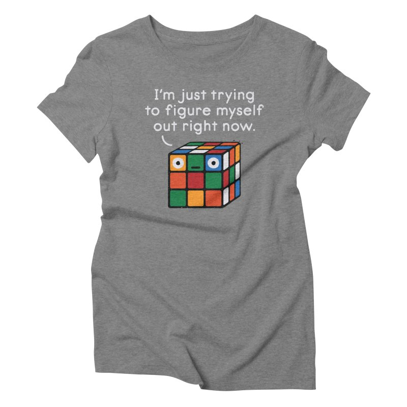 Back To Square One Women's Triblend T-Shirt by David Olenick