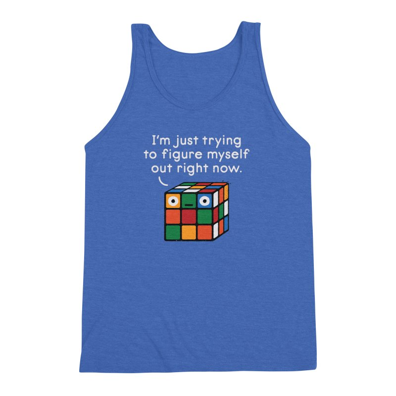 Back To Square One Men's Triblend Tank by David Olenick