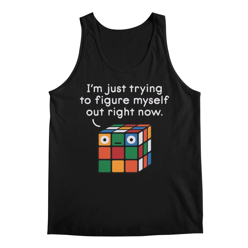 Back To Square One Men's Regular Tank by David Olenick