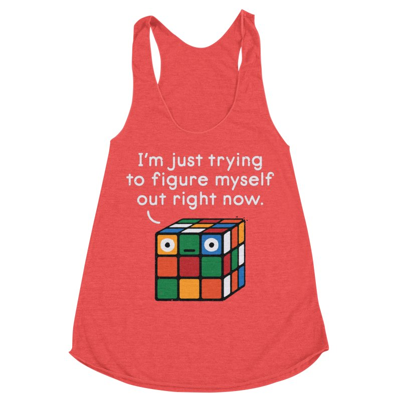 Back To Square One Women's Racerback Triblend Tank by David Olenick