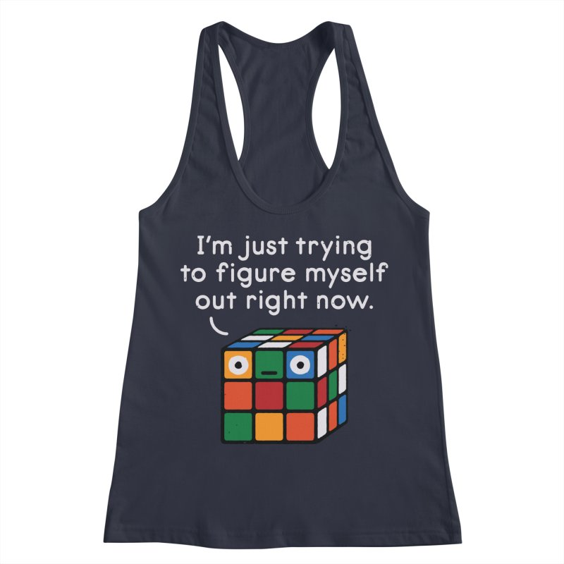 Back To Square One Women's Racerback Tank by David Olenick