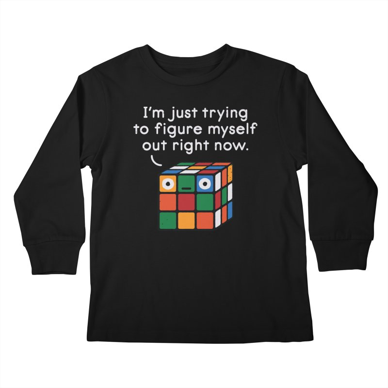 Back To Square One Kids Longsleeve T-Shirt by David Olenick