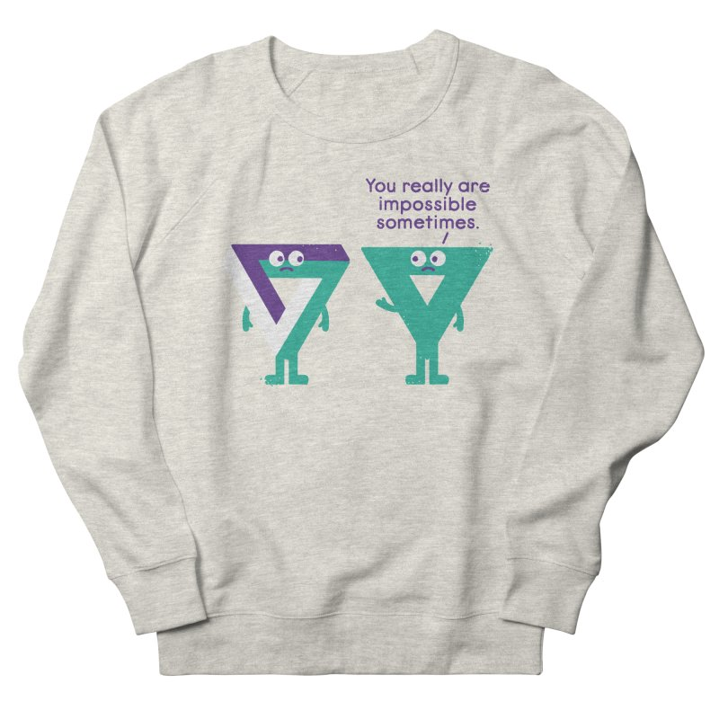 Under No Illusions Men's French Terry Sweatshirt by David Olenick
