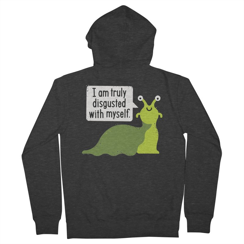 Garden Variety Self-Loathing Women's French Terry Zip-Up Hoody by David Olenick