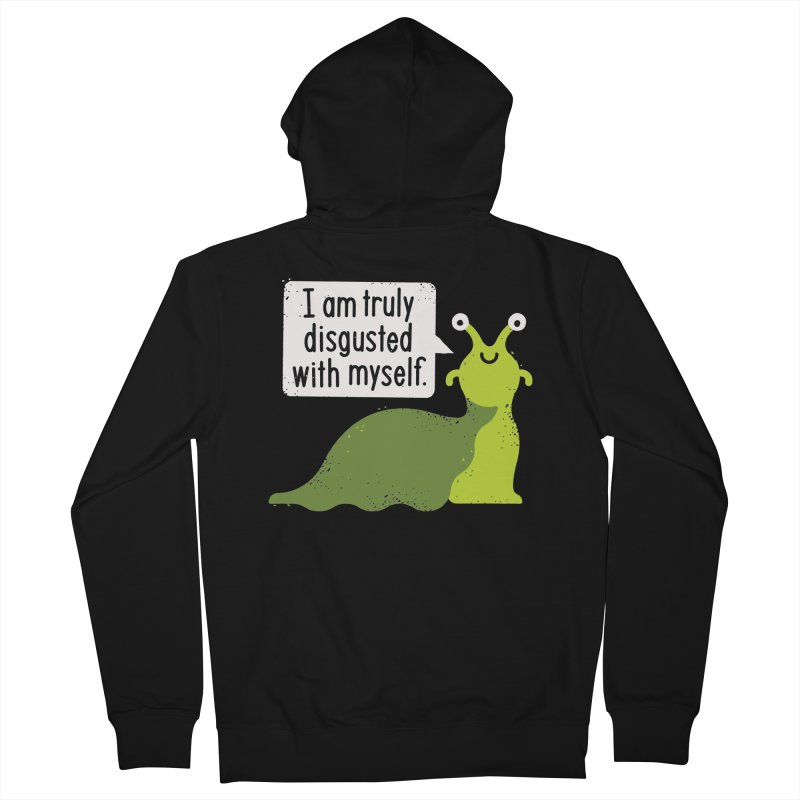 Garden Variety Self-Loathing Men's French Terry Zip-Up Hoody by David Olenick