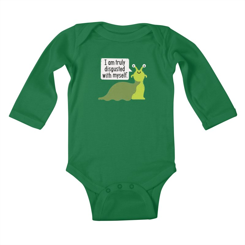 Garden Variety Self-Loathing Kids Baby Longsleeve Bodysuit by David Olenick