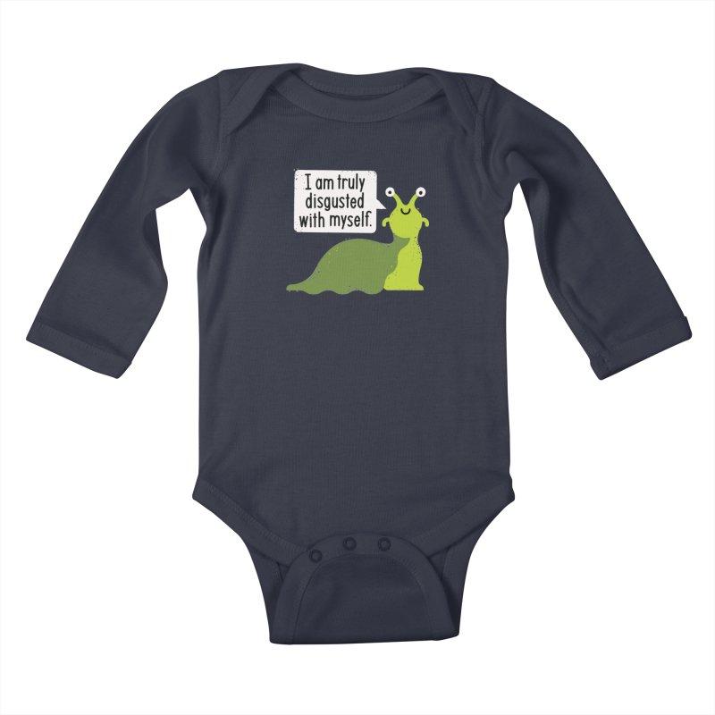 Garden Variety Self-Loathing Kids Baby Longsleeve Bodysuit by David Olenick