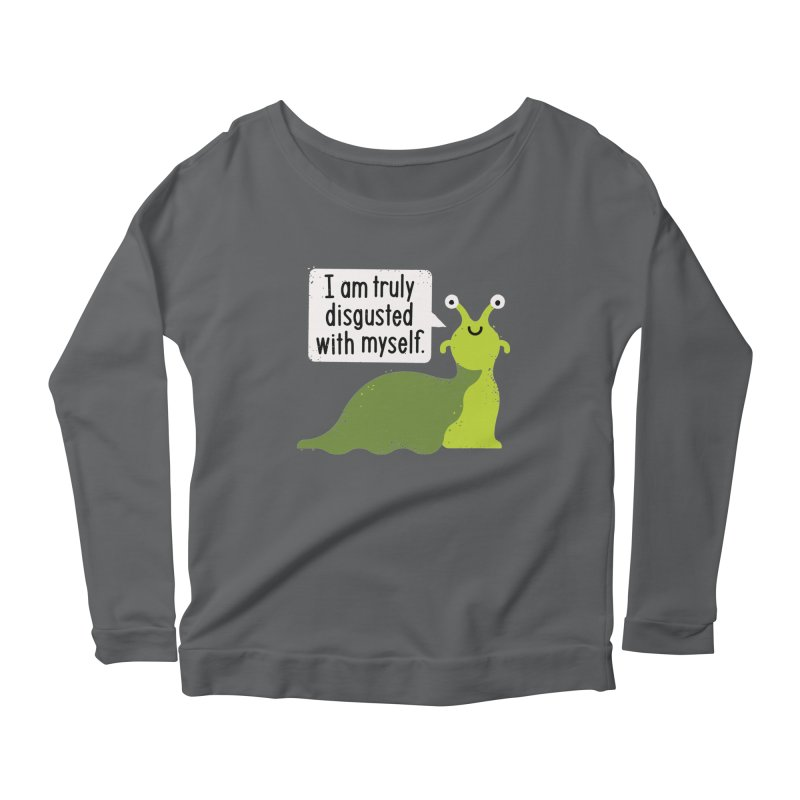 Garden Variety Self-Loathing Women's Scoop Neck Longsleeve T-Shirt by David Olenick