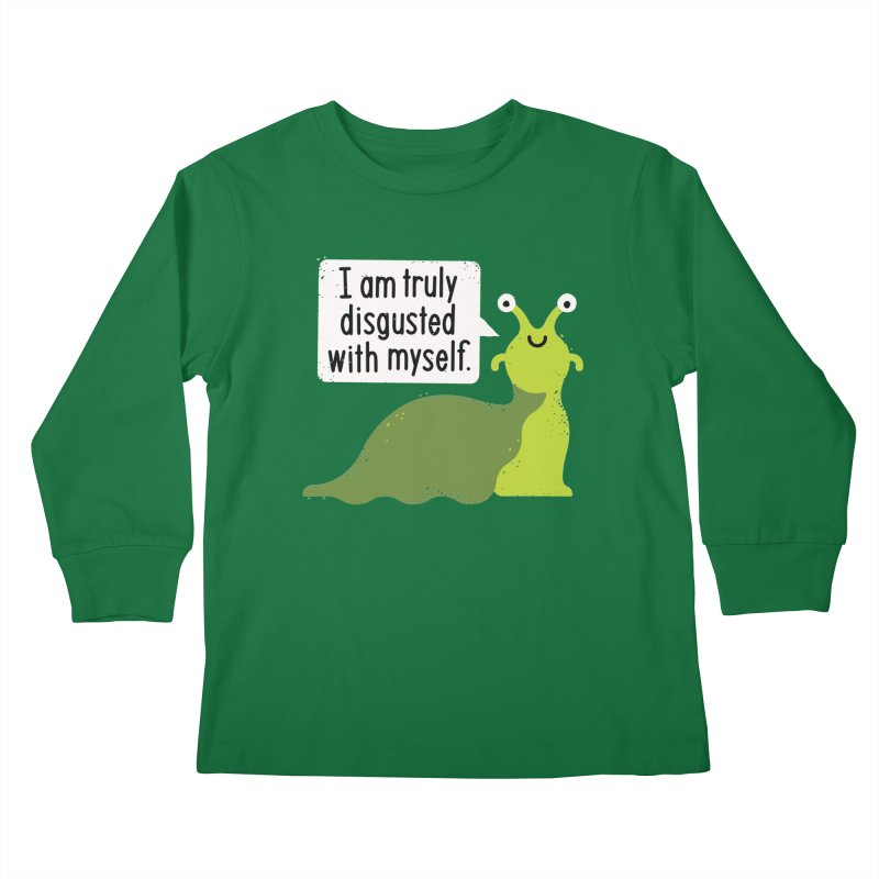 Garden Variety Self-Loathing Kids Longsleeve T-Shirt by David Olenick