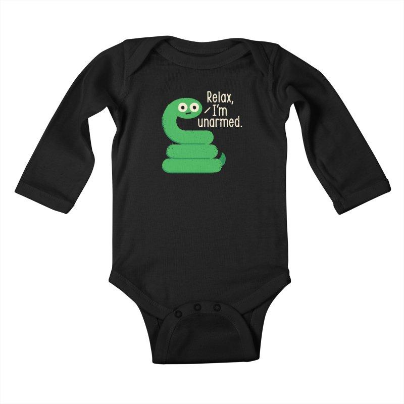 Fangs For Understanding Kids Baby Longsleeve Bodysuit by David Olenick