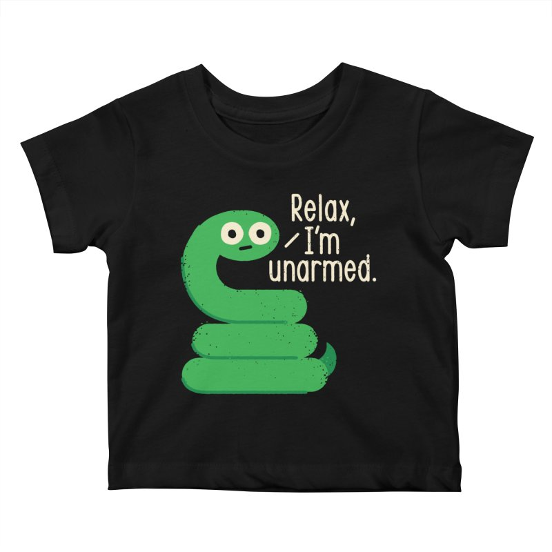 Fangs For Understanding Kids Baby T-Shirt by David Olenick