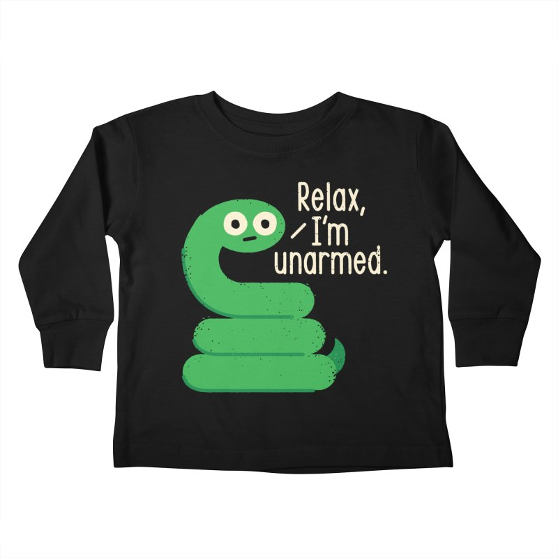 Fangs For Understanding Kids Toddler Longsleeve T-Shirt by David Olenick