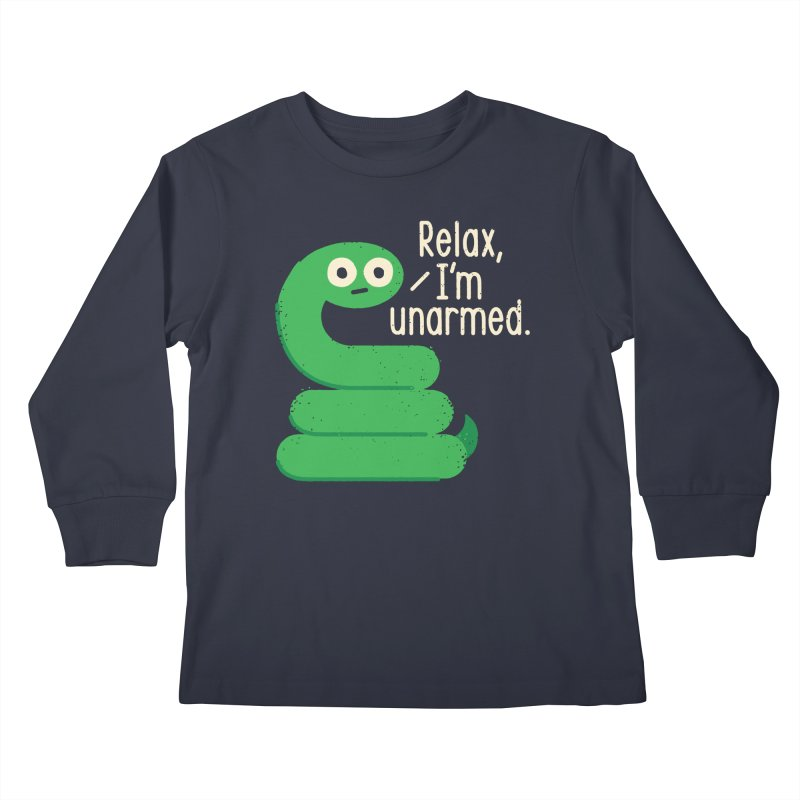Fangs For Understanding Kids Longsleeve T-Shirt by David Olenick