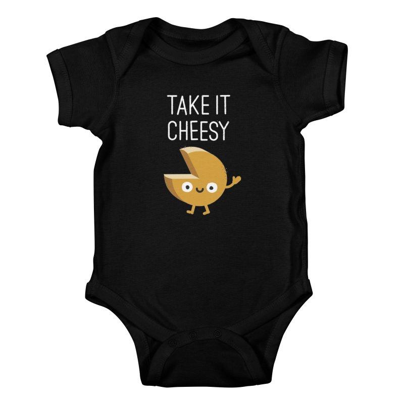 Gouda Bye Kids Baby Bodysuit by David Olenick
